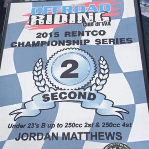 Jordie Matthews 2nd U23Bs 2015