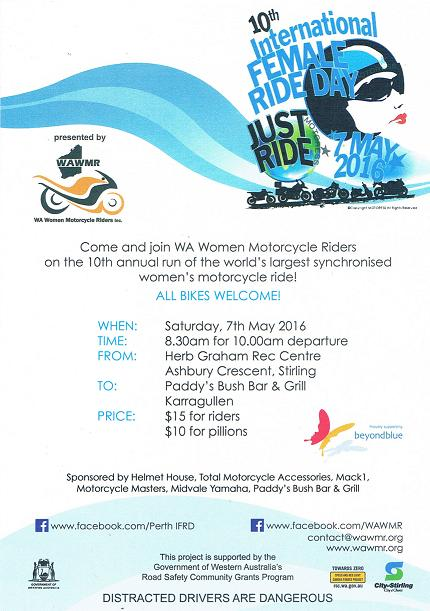 10th International Female Ride Day